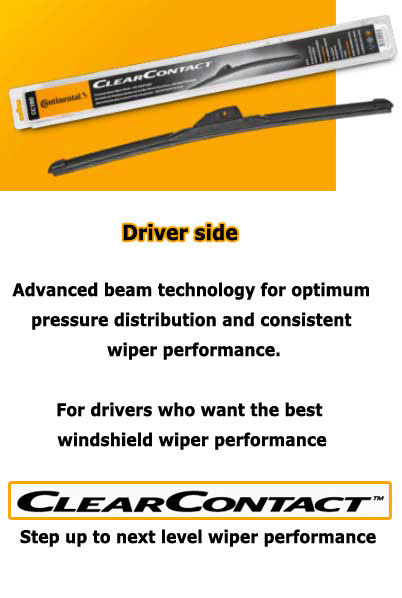 WIPERS-001-VIS Wiper Blades for Windshield Driver-side from Continental VDO - ClearContact